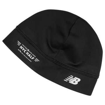 New Balance NYC Half Heavyweight Stretch Beanie, Black