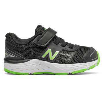 New Balance Hook and Loop 680v5, Black with RGB Green