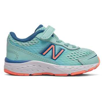 New Balance 680v6, Bali Blue with Mako Blue & Ginger Pink