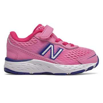 New Balance 680v6, Candy Pink with Exuberant Pink & Marine Blue