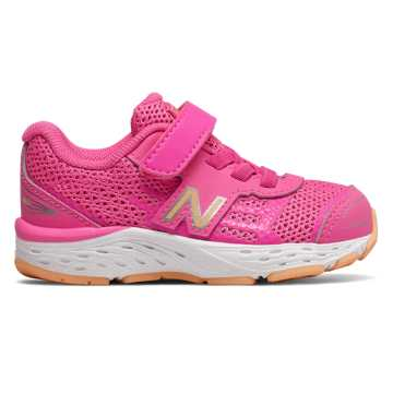 New Balance Hook and Loop 680v5, Light Peony with Light Mango