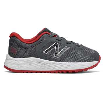 New Balance Bungee Lace Fresh Foam Arishi v2, Gunmetal with Energy Red