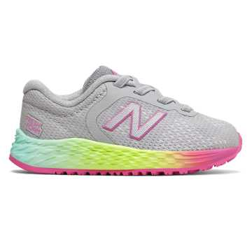 New Balance Bungee Lace Fresh Foam Arishi v2, Light Aluminum with Rainbow
