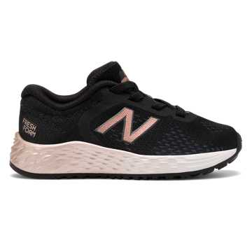New Balance Bungee Lace Fresh Foam Arishi v2, Black with Rose Gold
