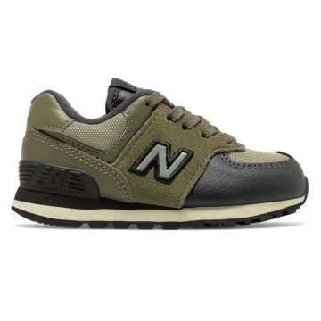 New Balance 574, Covert Green with Triumph Green