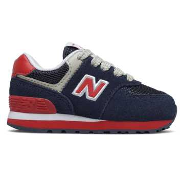 New Balance 574 Speed, Navy with Red