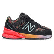 New Balance 990v5, Black with Tahitian Pink