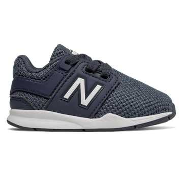 New Balance Bungee Lace 247, Navy with White