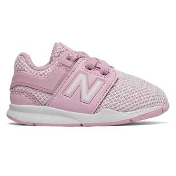 New Balance Bungee Lace 247, Crystal Rose with White