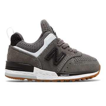 New Balance 574 Sport, Castlerock with Black