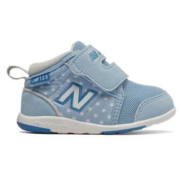 New Balance 123系列儿童休闲运动鞋 柔软舒适 稳固平稳, 浅蓝色