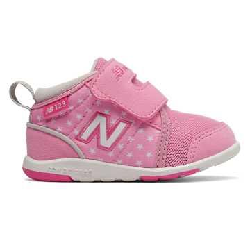 New Balance 123系列儿童休闲运动鞋 柔软舒适 ?#35033;?#24179;稳, 粉红色