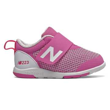 New Balance Hook and Loop 223, Magenta with White