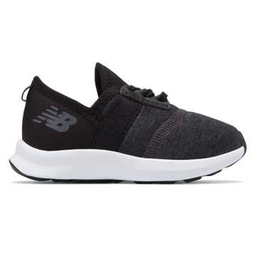 New Balance NRG FuelCore Slip-On, Black with White