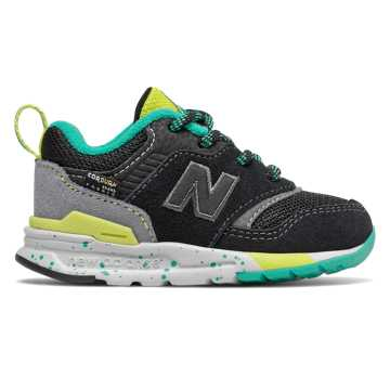 New Balance 997H, Black with Sulphur Yellow
