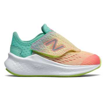 56e26f4204853 New Balance Hook and Loop Fresh Foam Fast, Bleached Guava with Bleached  Lime Glo &