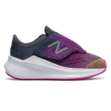 New Balance Hook and Loop Fresh Foam Fast, Light Mango with Peony & Vintage Indigo