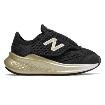 New Balance Fresh Foam Fast Hook and Loop, Black with Gold Metallic