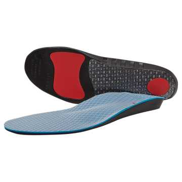 New Balance Supportive Cushioning Insole, Black with Grey & Orange