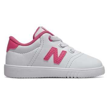 New Balance 10系列儿童系带休闲运动鞋, 白色