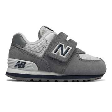 New Balance 574 Core Plus, Grey with Navy