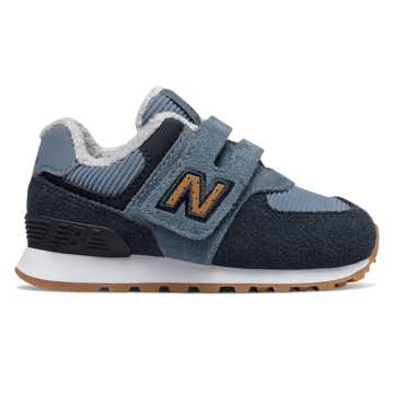 New Balance Hook and Loop 574, Chambray with Eclipse