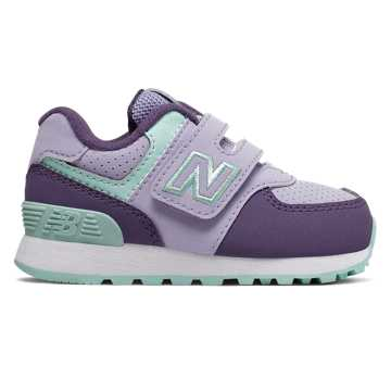 New Balance Hook and Loop 574, Clear Amethyst with Violet Fluorite