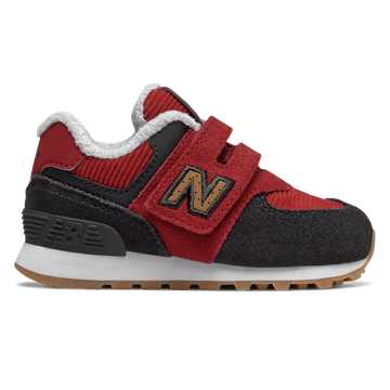 New Balance Hook and Loop 574, Red Jasper with Red & Phantom