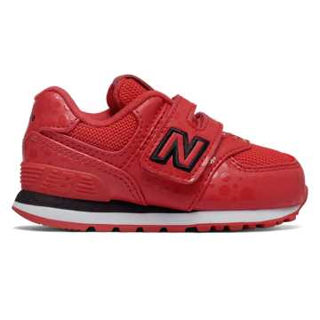 New Balance 574 Disney, Red with Black