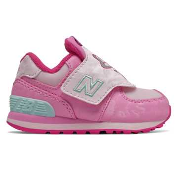 New Balance Hook and Loop 574, Peony with Pink