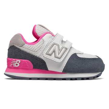 New Balance Hook and Loop 574 Summer Sport, Vintage Indigo with Peony