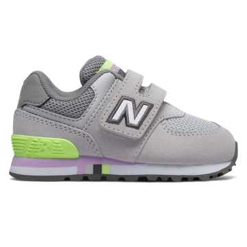 New Balance Hook and Loop 574, Summer Fog with Bleached Lime Glo