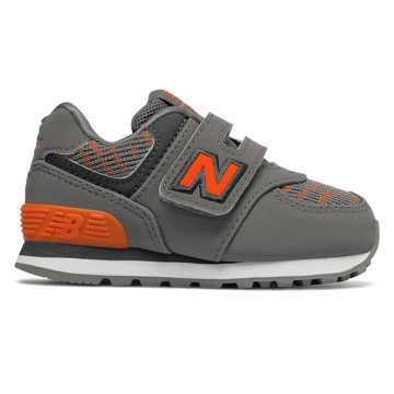 New Balance Hook and Loop 574, Castlerock with Bengal Tiger