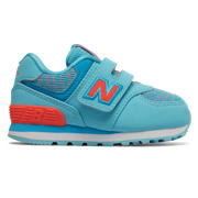 NB Hook and Loop 574, Enamel Blue with Dragonfly