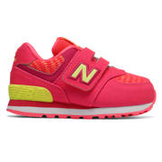 NB Hook and Loop 574, Pink Zing with Solar Yellow