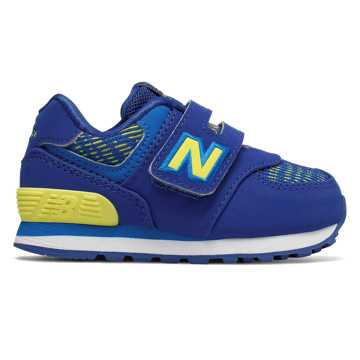 New Balance Hook and Loop 574, Team Royal with Laser Blue