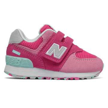 New Balance Hook and Loop 574, Peony with Peony Glo