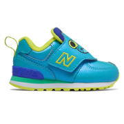 NB Hook and Loop 574, Vivid Cobalt with Sulphur Yellow