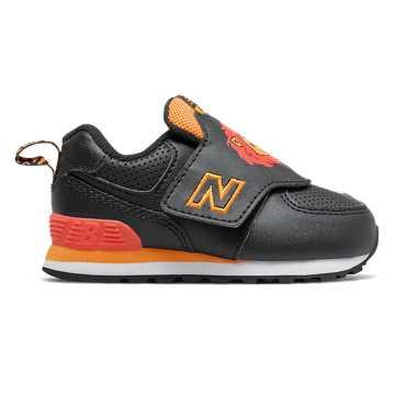 New Balance 574動物系列兒童休閑運動鞋, 黑色
