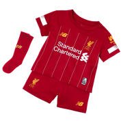 New Balance Liverpool FC Home Infant Kit, Red Pepper with White & Gold