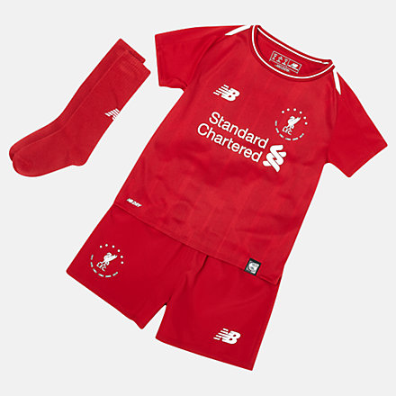 New Balance Signature Liverpool FC 18/19 Infant Kit, IY930502HME image number null