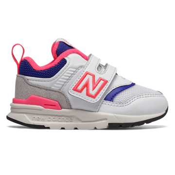New Balance 997H, White with Laser Blue - Hook and Loop