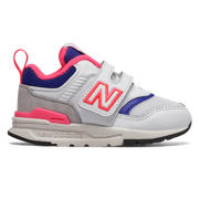 NB Hook and Loop 997H, White with Laser Blue