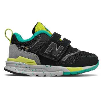 New Balance 997H系列兒童戶外休閑運動鞋, 黑色