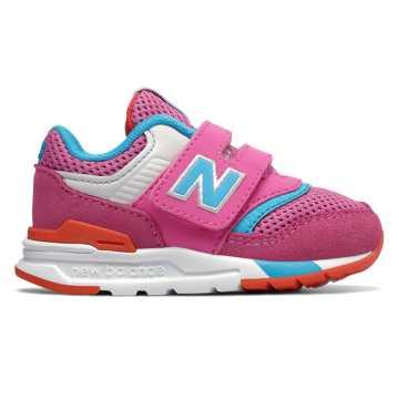 New Balance 997H系列兒童休閑運動鞋, 桃紅色