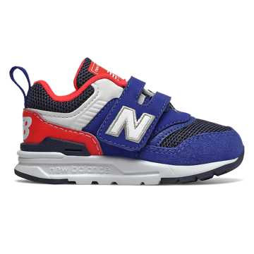 New Balance 997H, Team Royal with Energy Red - Hook and Loop