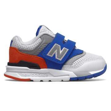 New Balance 997H系列儿童休闲运动鞋, 白色/蓝色