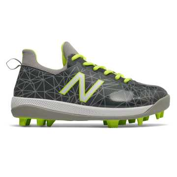 New Balance Lindor Pro Youth, Grey with Hi-Liter