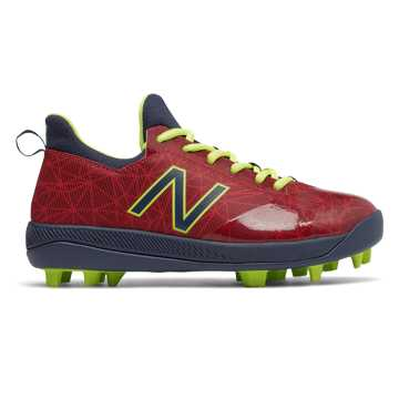 New Balance Lindor Pro Youth, Red with Navy & Hi Lite