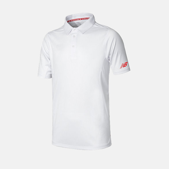 New Balance Cricket Youth Polo, JFT3014WT
